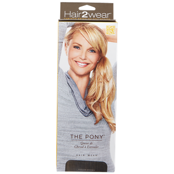 Hair2wear Christie Brinkley Collection The Pony Medium Brown