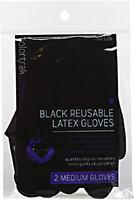 Colortrak Tools Black Reusable Medium Latex Gloves