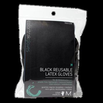 Colortrak Tools Black Reusable Medium Latex Gloves 10 Pack