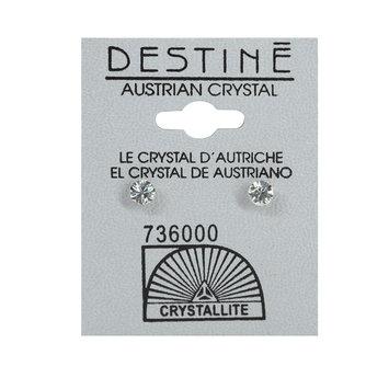 Crystallite By Destine Destine Diamond Cut Round Austrian Crystal Earrings