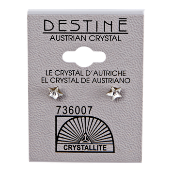 Crystallite By Destine Destine Star-Shaped Austrian Crystal Earrings