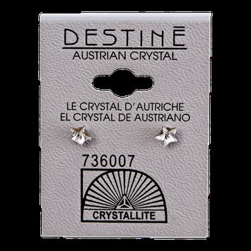Crystallite By Destine Destine Star-Shaped Austrian Crystal Earrings