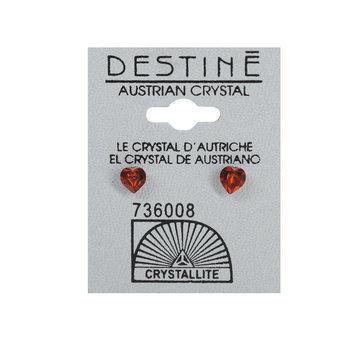 Crystallite By Destine Destine Heart-Shaped Austrian Crystal Earrings
