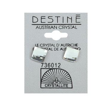 Crystallite By Destine Destine Multiple Edge Austrian Crystal Earrings