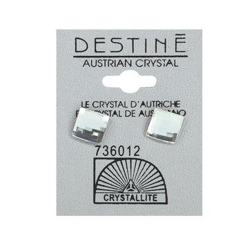 Crystallite By Destine Destine Multiple Edge Austrian Crystal Earrings