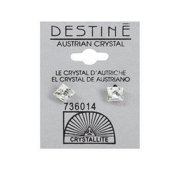 Crystallite By Destine Destine Austrian Crystal Jewel Square Earrings