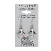 Crystallite By Destine Destine Austrian Crystal Earrings Clear Angel Dangle