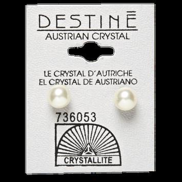 Crystallite Destine White Pearl Earrings
