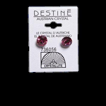 Crystallite Dark Pink Large Stud 8mm