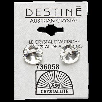 Crystallite Clear Rivoli Stud 11mm