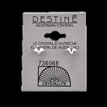 Crystallite Destine Austrian Crystal Butterfly Cut Post Earrings