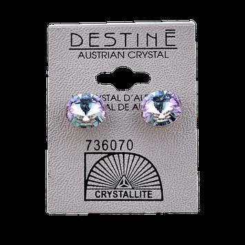 Crystallite Destine Austrian Crystal VL Rivoli Post Earrings