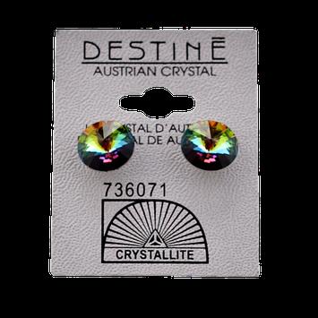 Crystallite Destine Austrian Crystal VM Rivoli Post Earrings