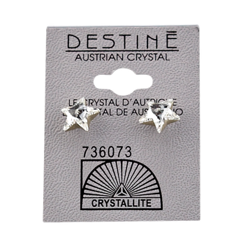 Crystallite Destine Austrian Crystal Star Post Earrings