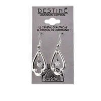 Crystallite Destine Austrian Trefoil Dangle Earrings