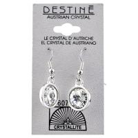Crystallite Destine Austrian Rivoli Dangle Earrings