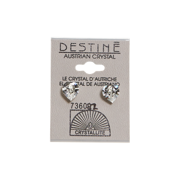 Crystallite Destine Austrian Crystal Heart Earrings
