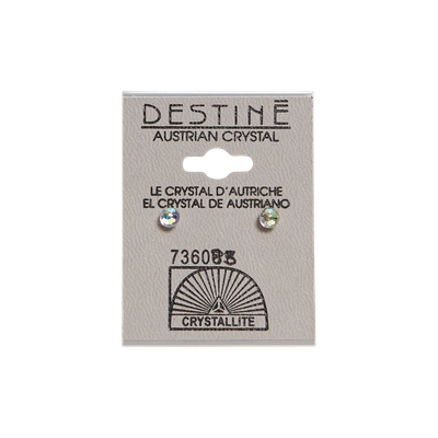 Crystallite Destine Austrian Crystal Faceted Ball Earrings