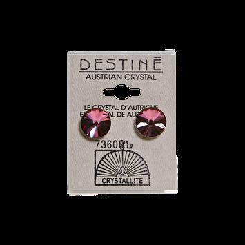 Crystallite Destine Austrian Crystal Lilac Shadow Rivoli Earrings