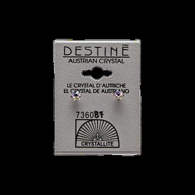 Crystallite Destine Austrian Crystal Snowflake VL Earrings