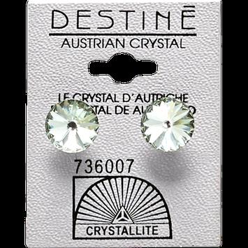 Crystallite Destine Austrian Crystal Chrysolite Rivoli Earrings