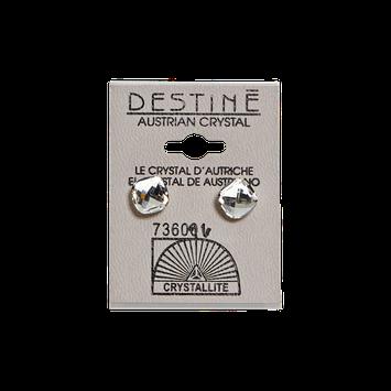 Crystallite Destine Austrian Crystal Classic Square Cut Earrings