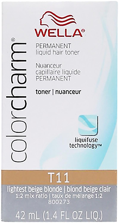 Wella Color Charm Liquid Hair Toner T11 Lightest Beige Blonde 1.4 oz