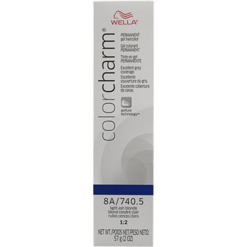 Wella Color Charm Gel Permanent Tube Hair Color 740.5/8A Light Ash Blonde