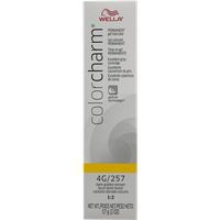 Wella Color Charm Gel Permanent Tube Hair Color 257/4G Dark Golden Brown