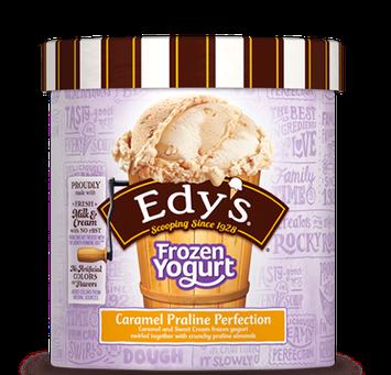 Edy's Slow Churned Frozen Yogurt Caramel Praline Perfection