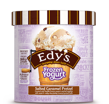 Edy's Slow Churned Frozen Yogurt Salted Caramel Pretzel