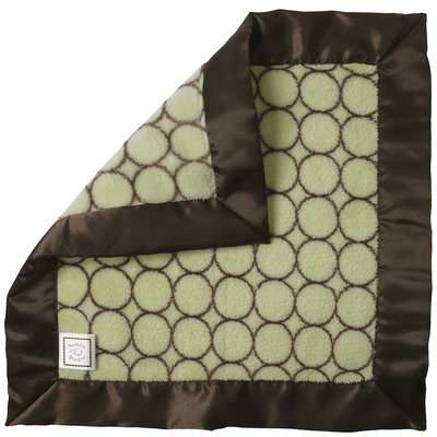 Swaddle Designs Fuzzy Baby Lovie - Lime & Brown Mod Circles