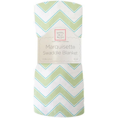Swaddle Designs Marquisette Swaddle Blanket - Chevron, Kiwi