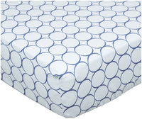 Swaddle Designs Fitted Crib Sheet - Pastel with Mod Circles, True Blue - 1 ct.