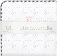 Swaddle Designs Ultimate Receiving Blanket - Sparklers, Sterling