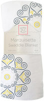 Swaddle Designs Marquisette Swaddle Blanket - Medallions, Yellow