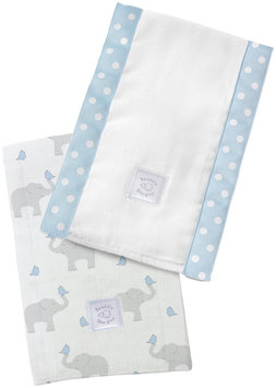 Swaddle Designs Baby Burpies - Pastel Blue Elephants and Chickies - 2 Pk - 1 ct.