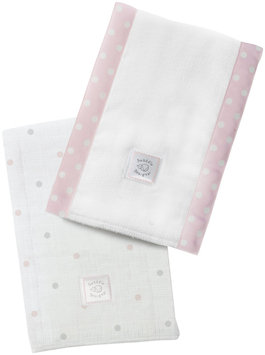 Swaddle Designs Baby Burpies - Pastel Pink Little Dots - 2 Pk - 1 ct.