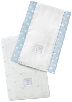 Swaddle Designs Baby Burpies - Pastel Blue Little Dots - 2 Pk - 1 ct.