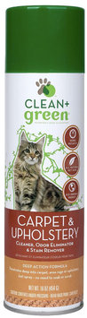 Clean And Green Clean+Green Carpet & Upholstery Pet Odor & Stain Remover for Cats - 16 oz