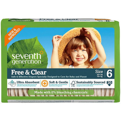 Seventh Generation Baby Diapers Super Jumbo Box - 40 ct.