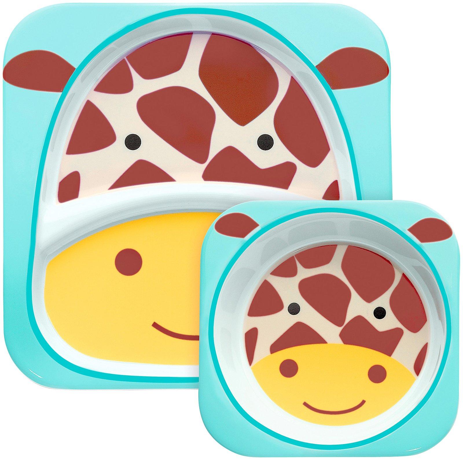 Skip Hop Zoo Melamine Plate and Bowl Set - Giraffe