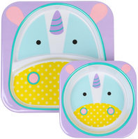 Skip Hop Zoo Melamine Plate and Bowl Set - Unicorn - 1 ct.