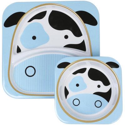 Skip Hop Zoo Melamine Plate and Bowl Set - Cow - 1 ct.