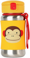 Skip Hop Zoo Stainless Steel Straw Bottle - 12 oz