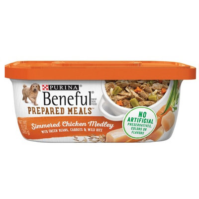 Beneful Wet Dog Food Simmered Chicken Medley With Green Beans Carrots And Wild Rice