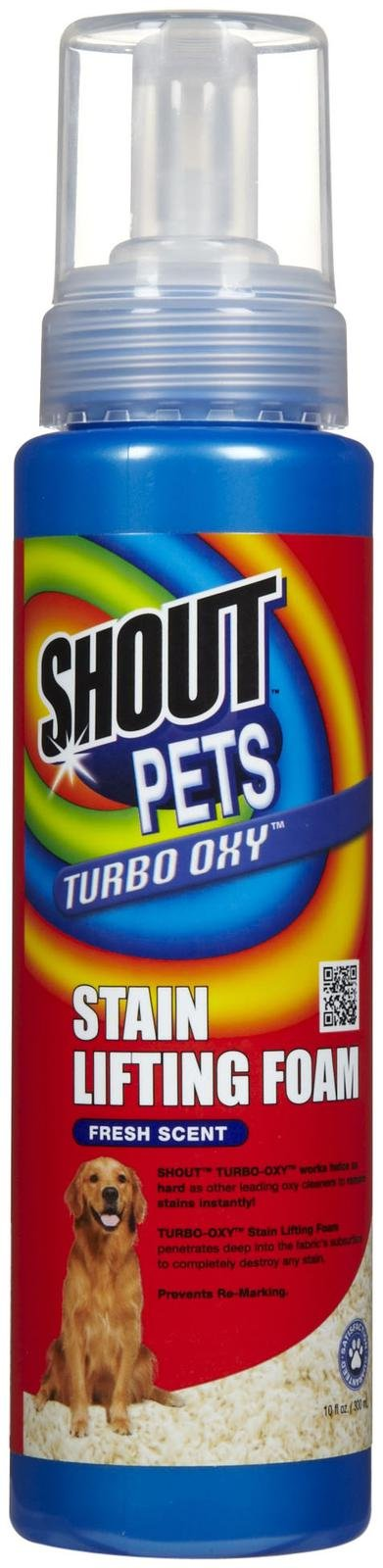 Shout Pets Turbo Oxy - Stain Lifting Foam - Fresh Scent