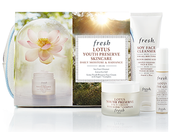 fresh Lotus Youth Preserve Skincare Daily Moisture & Radiance