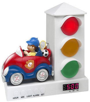 The Stoplight Alarm Clock Car Alarm Clock - Boy