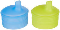 Silikids Siliskin Sippy Top - Green/Blue - 2 ct
